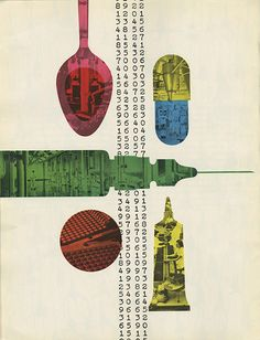 """design-is-fine: """" Will Burtin, Insert """"A Program in Print"""" of magazine Scope, Co-edited by Leo Lionni. Via printmag / Stephen Heller """"By 1955 Burtin had been design consultant for seven years. Illustration Design Graphique, Graphic Illustration, Print Magazine, Magazine Design, Creative Inspiration, Design Inspiration, Vintage Graphic Design, Retro Design, Print Layout"""