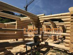 Galerie foto case si cabane din lemn rotund - LOG HOME Vatra Dornei, Suceava Case, Pergola, Outdoor Structures, Outdoor Pergola