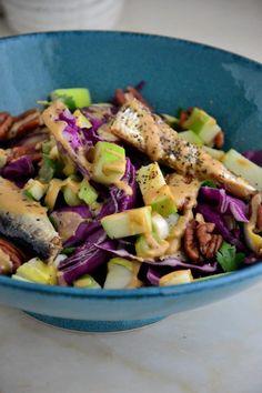 Simple Green Apple & Cabbage Salad with Lemon Tahini Dressing