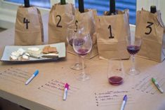 Blind wine tasting party...this is a great idea; we tried this once, and it was a hit! Give it a try:)