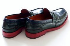 Tommy Hilfiger Penny Loafer in Evergreen Core Navy - http://olschis-world.de/  #TommyHilfiger #PennyLoafer #shoes