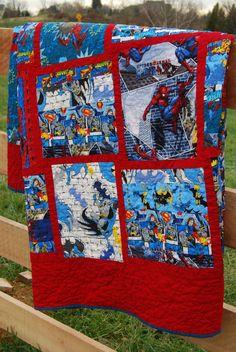 full size superhero quilt | quilt, superhero quilt and design