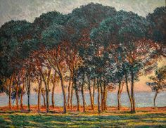 Claude Monet - Under the Pines, Evening, 1888 at the Museum of Art Philadelphia PA