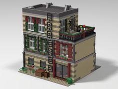 Custom LEGO Modular Parisian Apartment