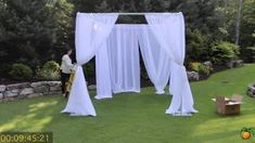 how to make a beach wedding arch with pvc pipes explained - YouTube