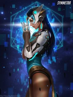 "rarts: "" Symmetra (Satya Vaswani): Overwatch game digital art [by Liang Xing] """
