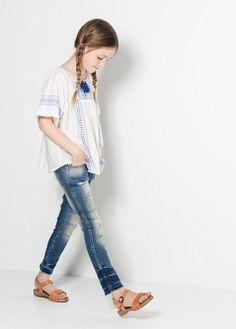 Jeans lavado medio - Niños | MANGO KIDS