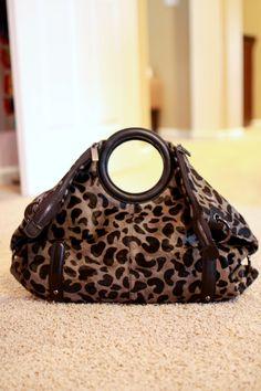 e4ad9997fe71 Charles Jourdan Leopard-Print Calf Hair Bag!