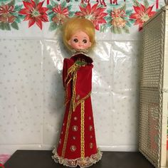 Vintage Velvet Christmas Doll, Handmade, Pixie, Angel, Holiday Decor, Kitschy