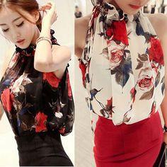 Fashion Womens Summer Sleeveless Shirt Casual Blouse Loose Chiffon Tops T Shirt #Unbrand #Blouse #Casual $5.79