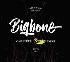 Bigbone Free Font #brushfonts #fonts #freefonts #freetypeface #scriptfonts #freebies #handwrittenfonts #typography
