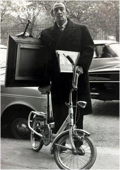 Salvador Dali rode a bicycle