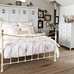 Vintage Bedroom inspiration with an iron bed