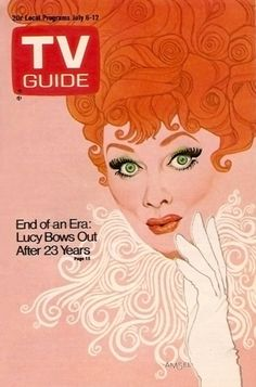cMag451 - TV Guide Magazine cover Lucille Ball by Richard Amsel / July 1974