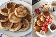 Recept na lievance. Nadýchané, rýchle ajednoduché Breakfast Recipes, Pancakes, French Toast, Deserts, Food And Drink, Sweets, Snacks, Dinner, Baking
