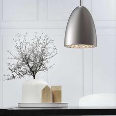 Nexus Large Brushed Steel Ceiling Pendant | Dunelm