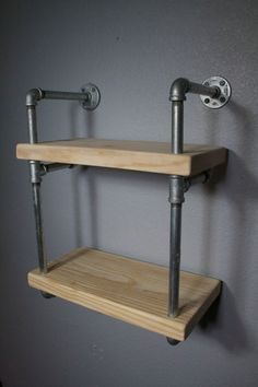 Our originally designed industrial pipe wall shelf, mini RAW is an exciting addition to an already inspiring line of custom shelving. This unit is