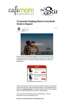 Featured in 2015 on Cafemom site - thestir Wedding Blog, Wedding Photos, Dream Wedding, Dreaming Of You, Finding Yourself, Reception, Essentials, Bride, How To Plan