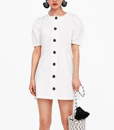 Zara Dresses, Nice Dresses, Dresses For Work, Summer Tops, Who What Wear, Short Sleeve Dresses, Stylish, Outfits, Shopping