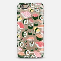 Transparent Sushi Fun Phone Case by Kristin Nohe. Many phone types available! Get $10 off using code: I4ZXXY