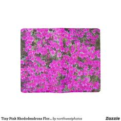 Tiny Pink Rhododendrons Floral Large Moleskine Notebook