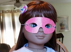 Mask for American Girl Doll or any 18 doll by TheShopOnLeightonAve, $4.50