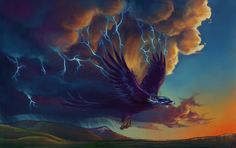 The myth probably originated when they noticed birds would soar long and high on the warm updrafts that roll through before a storm. Description from pinterest.com. I searched for this on bing.com/images