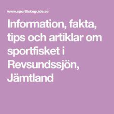 Information, fakta, tips och artiklar om sportfisket i Revsundssjön, Jämtland Tips, Counseling