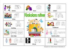Pratkarta-Förskolans rutiner Sign Language Book, Sign Language Phrases, Preschool Routine, Learn Swedish, Swedish Language, French Worksheets, Baby Barn, Autism Spectrum Disorder, Reggio Emilia