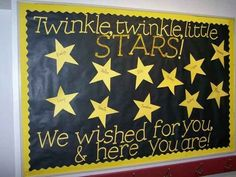 A Class Full of Stars: My back to school bulletin board! LOTS of amazing bulletin board ideas. Star Bulletin Boards, September Bulletin Boards, Kindergarten Bulletin Boards, Summer Bulletin Boards, Birthday Bulletin Boards, Preschool Bulletin Boards, Bulletin Board Display, Bullentin Boards, Display Boards