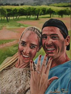 Happy Moment is an engagement portrait painting. Medium: Oil on Canvas. Size: 9 x Photo Supplies, Happy Moments, Oil On Canvas, Christian, Deep, In This Moment, Engagement, Painting, Instagram