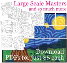 """Art Projects for Kids - """"large scale masters"""" - printable mural projects, download PDFs for $5.  www.artprojectsforkids.org"""