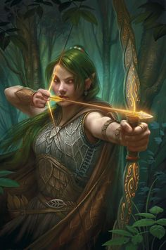 Half-Dryad patroller. Could very well be Aliah Starbough.