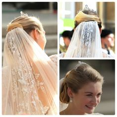 Up do with veil
