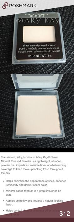 Mary Kay Sheer Mineral Pressed Powder in Ivory 1 Mary Kay Sheer Mineral Pressed Powder in Ivory 1 Mary Kay Makeup Face Powder