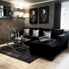 Living Room Ideas With Black Leather Sofa Paint Online How To Decorate A Family 50 Modern Glam Style Couch