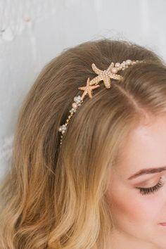 Seashell Wedding, Beach Wedding Hair, Wedding Hair Pieces, Nautical Wedding, Beach Wedding Jewelry, Wedding Summer, Beach Hair, Beach Weddings, Mermaid Wedding