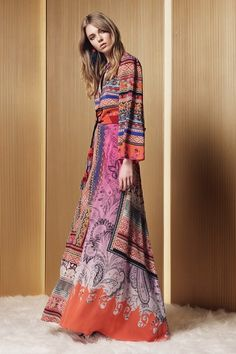 Etro - Pre Spring/Summer 2017 Ready-To-Wear New York Fashion Week Fashion Week, Fashion 2017, Look Fashion, Runway Fashion, Fashion Show, Dress Fashion, Boho Chic, Bohemian Mode, Bohemian Style