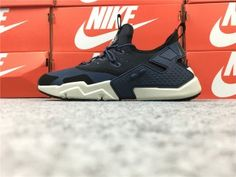 super popular a0636 86261 NIke Air Huarache Drift PRM Men s Running Sports Shoes Dark Blue   Black    White AH7334-401