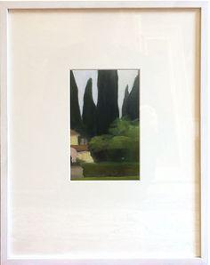 "Maria Levinge ""Giardino Francesco di Paolo II"" Oil on paper, 7"" x 4¼"" Polaroid Film"