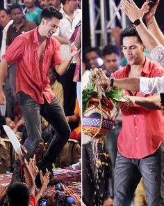 Varun Dhawan seems to have had loads of fun and was all set to break the dahi handi!