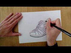 SANDALIA DE YUTE. Dibujando con un rotulador - YouTube