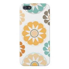 Kate Spade Inspired Colorful Circle Paper Flower Patterns iPhone 5 Case