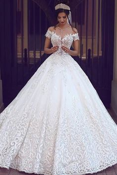Cheap gown protector, Buy Quality dress bridal gown directly from China gown disposable Suppliers: 2017 Vintage Lace Wedding Dresses Off the Shoulder Short Sleeves Applique Wedding Bridal Gowns Robe De Mariage Custom Made Cheap Bridal Dresses, Long Wedding Dresses, Princess Wedding Dresses, Bridal Gowns, Dress Wedding, Tulle Wedding, Beautiful Wedding Dress, Ball Gown Wedding Dresses, Wedding Gown Ballgown