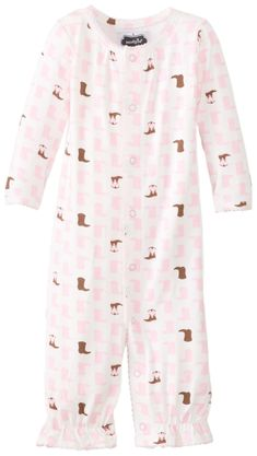 bea959e8f85 Mud Pie BabyGirls Newborn Cowgirl Convertible Sleep Gown Red 69 Months    You could obtain additional information at the picture link.