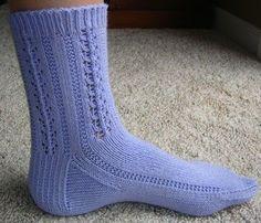 free sock knitting pattern - Panda Cotton Periwinkle Socks - Crystal Palace Yarns