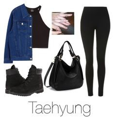 """Matching tattoos with Taehyung"" by infires-jhope ❤ liked on Polyvore featuring Topshop, Zara and Timberland"