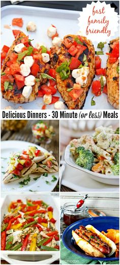 Delicious Dinners |30 Minutes Meals or Less for back to school! Family friendly and fast these dinners don't lack on flavors and you can make them in 30 Minutes or less!