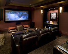Room ideas on pinterest man cave theatre rooms and Media room paint ideas