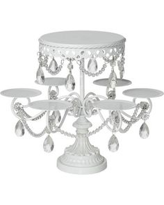 An elegant silver cake and cupcake stand elevates any get-together into an event. Food safe metal cake and cupcake stand. Holds up to 8 cupcakes and a top cake. Style # at Lamps Plus. White Cake Cupcakes, Small Cupcakes, Cake And Cupcake Stand, Cupcake Cakes, Cupcake Display, Crystal Cake Stand, Metal Cake Stand, Shabby Chic Cupcakes, Silver Cake